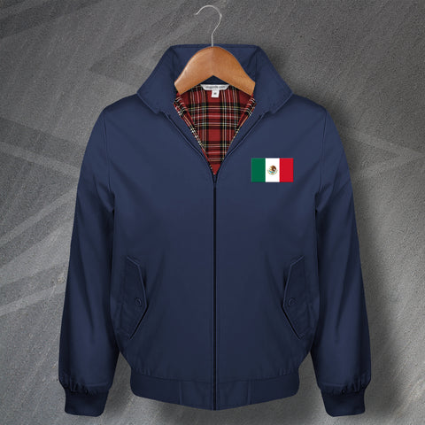 Mexico Harrington Jacket Embroidered Flag of Mexico