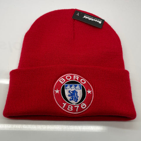 Middlesbrough Football Beanie Hat Embroidered 1876