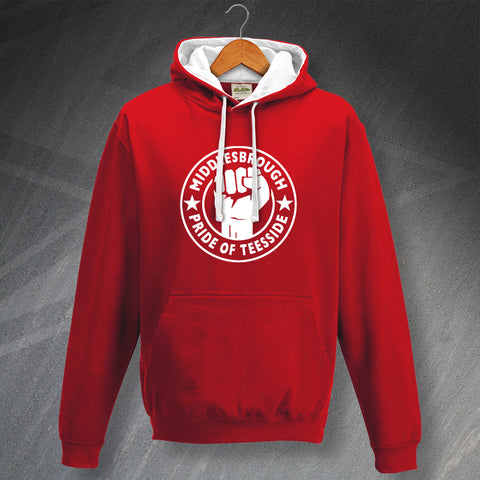 Middlesbrough Football Hoodie Contrast Pride of Teeside