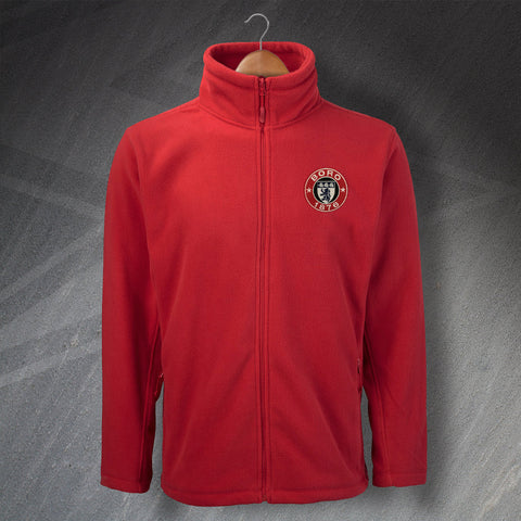 Retro Middlesbrough Embroidered Fleece