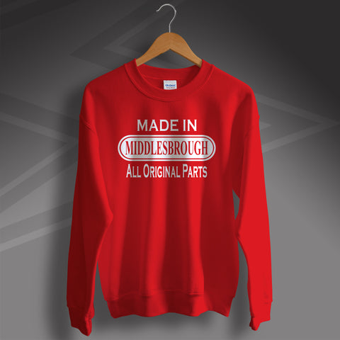 Made In Middlesbrough All Original Parts Unisex Sweater