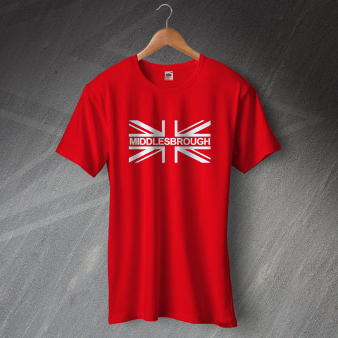 Middlesbrough Football T-Shirt Union Jack