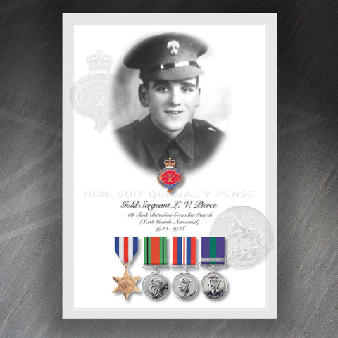 Veteran Montage Print Personalised Your Photograph, Badge & Medals