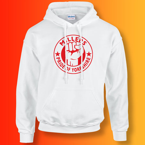 Millers Hoodie with The Pride of Yorkshire Design White