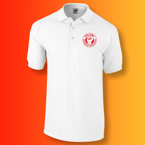 Millers Polo Shirt with The Pride of Yorkshire Design White