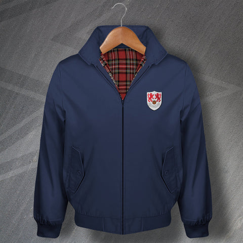 Retro Millwall Classic Harrington Jacket with Embroidered 1956 Badge