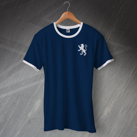 Millwall Football Shirt Embroidered Ringer 1977
