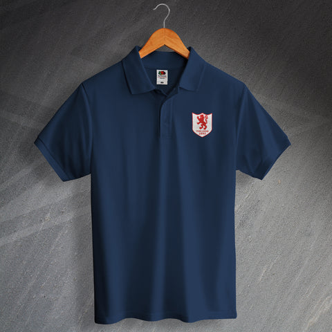 Millwall Football Polo Shirt Embroidered The Lions 1936