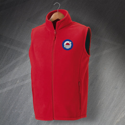 MOD Fleece Gilet Embroidered Target