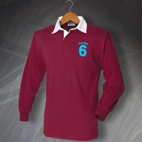 Moore 6 Long Sleeve Football Shirt with Embroidered Badge