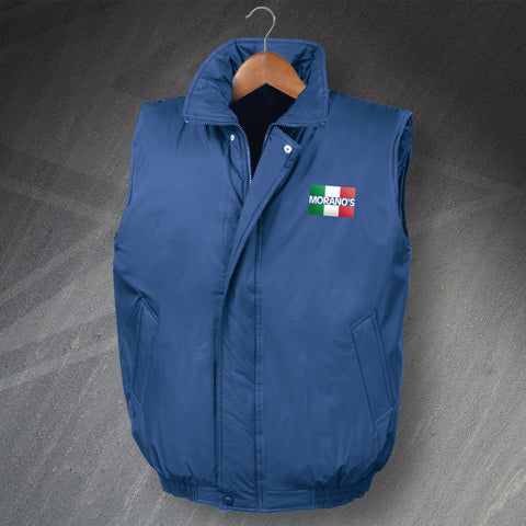 Moranos Pub Bodywarmer Padded Embroidered Flag of Italy