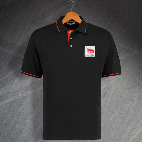 Retro Morecambe Embroidered Contrast Polo Shirt