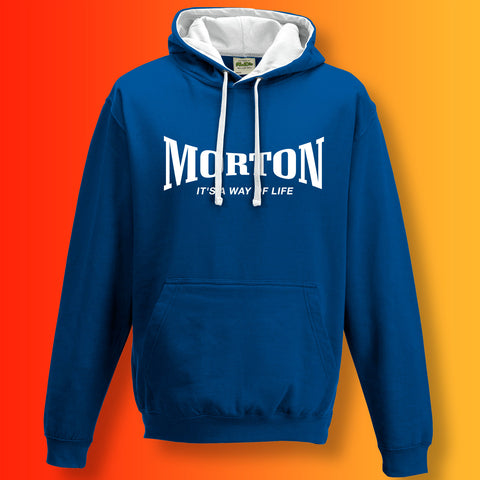 Morton Contrast Hoodie with It's a Way of Life Design