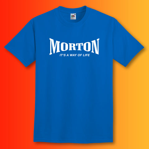 Morton Shirt with It's a Way of Life Design Royal Blue