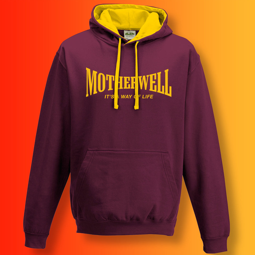 Motherwell Contrast Hoodie with It's a Way of Life Design