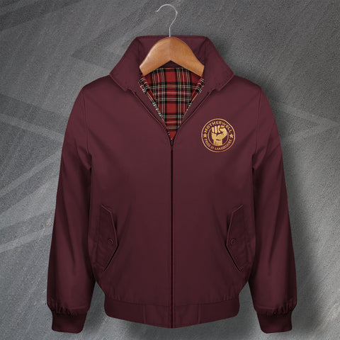 Motherwell Football Harrington Jacket Embroidered Pride of Lanarkshire