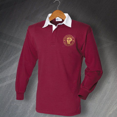 Motherwell Pride of Lanarkshire Embroidered Long Sleeve Football Shirt