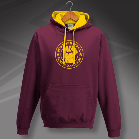Motherwell Contrast Hoodie with The Pride of Lanarkshire Design