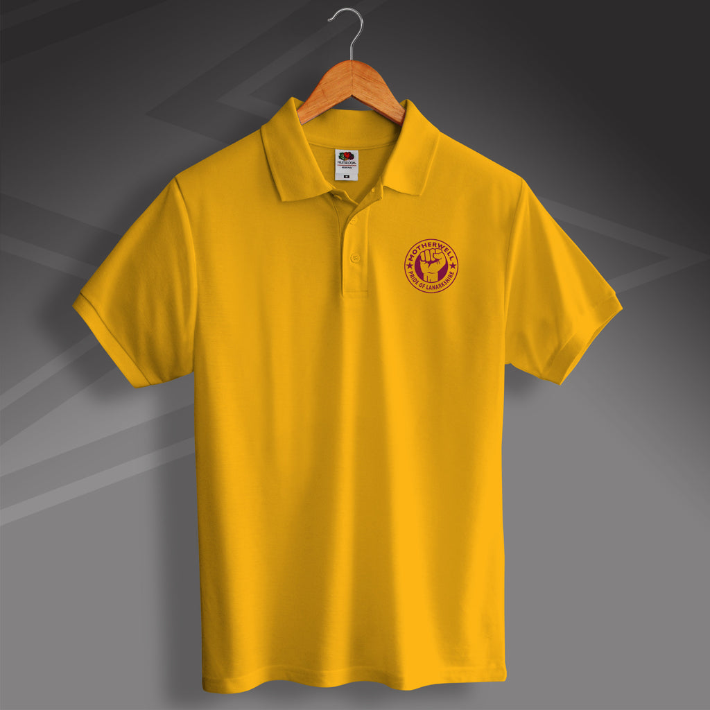 Motherwell Polo Shirt with The Pride of Lanarkshire Design