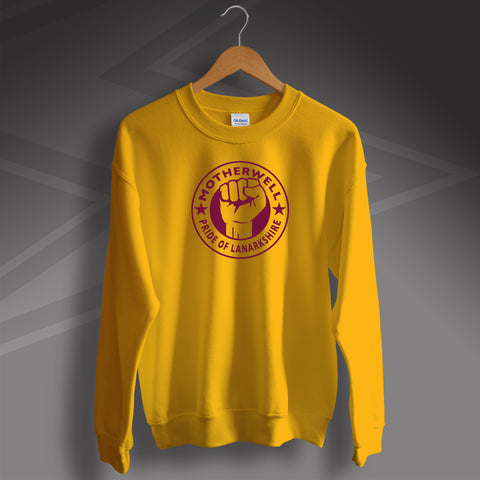 Motherwell Sweater with The Pride of Lanarkshire Design