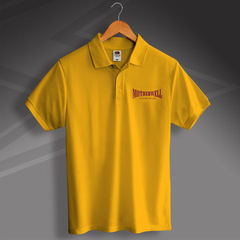 Motherwell Polo Shirt with It's a Way of Life Design