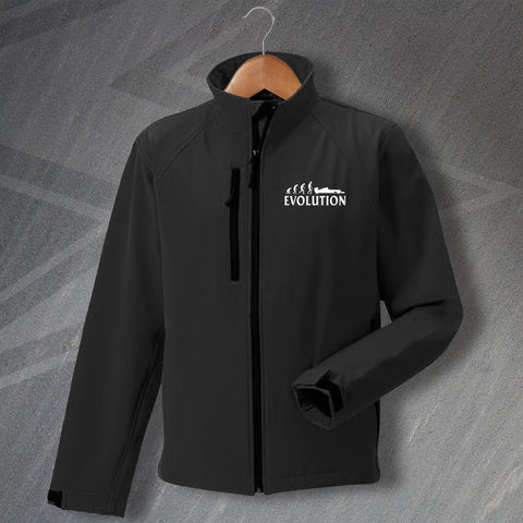 Motor Racing Jacket Embroidered Softshell Evolution