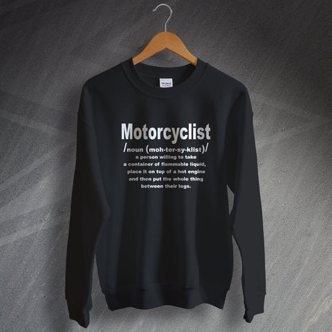 Motorcycle Sweatshirt Motorcyclist Meaning