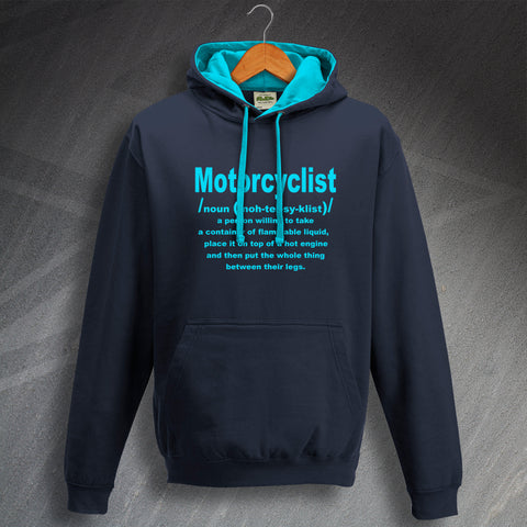 Motorcycle Hoodie Contrast Motorcyclist Meaning