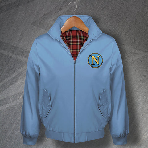 Retro Napoli Classic Harrington Jacket with Embroidered Badge