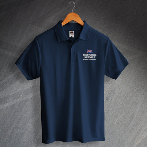 National Service Proud to Have Served Embroidered Polo Shirt