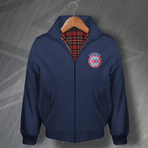 National Service Veteran Embroidered Classic Harrington Jacket