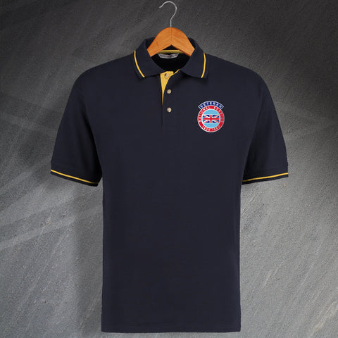 National Service Veteran Embroidered Contrast Polo Shirt