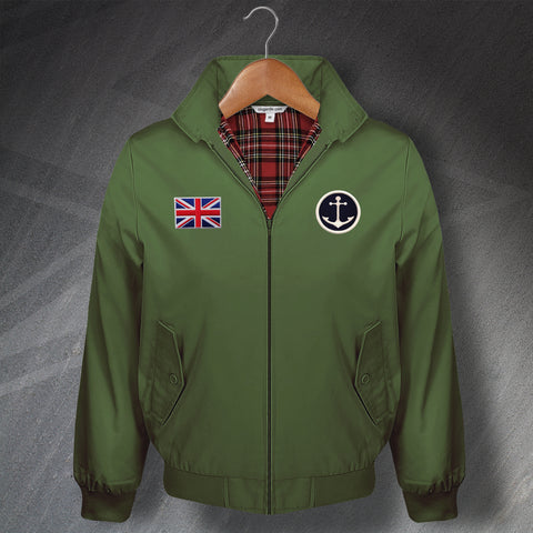Classic Harrington Jacket with Embroidered Naval Anchor & Union Flag