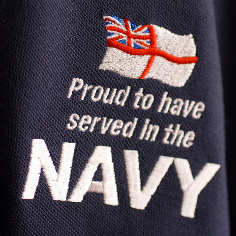 Navy Embroidered Badge