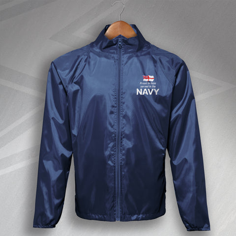 Proud to Have Served In The Navy Embroidered Lightweight Jacket