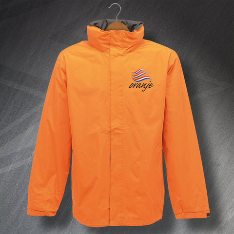 Netherlands Football Jacket Embroidered Waterproof Oranje