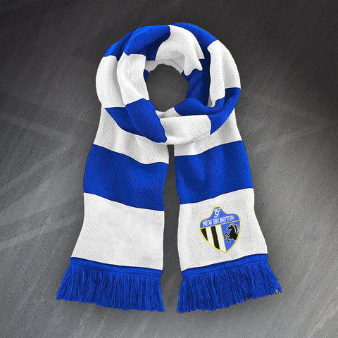Gillingham Football Bar Scarf Embroidered New Brompton