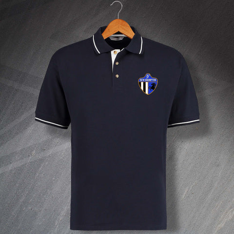 Gillingham Football Polo Shirt Embroidered Contrast New Brompton