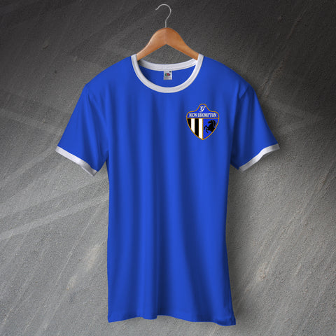 Gillingham Football Shirt Embroidered Ringer New Brompton