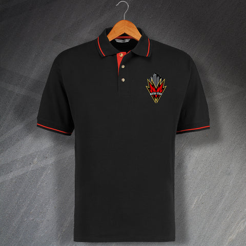 Retro New York Metrostars Embroidered Contrast Polo Shirt