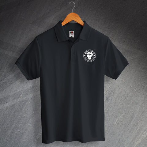 Newcastle Football Polo Shirt Embroidered Pride of Tyneside