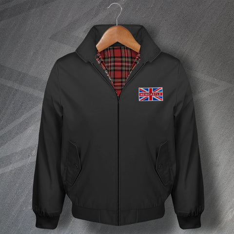 Newcastle Football Harrington Jacket Embroidered Coloured Union Jack
