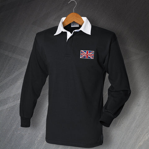 Newcastle Football Shirt Embroidered Long Sleeve Union Jack