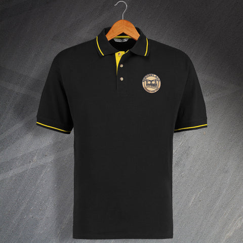 Retro Newport Embroidered Contrast Polo Shirt