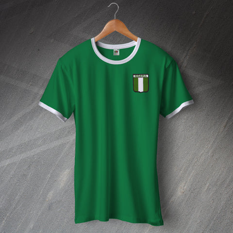 Nigeria Ringer Shirt with Embroidered Badge
