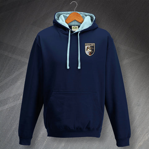 Wycombe Football Hoodie Embroidered Contrast North Town Wanderers