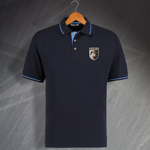 Wycombe Football Polo Shirt Embroidered Contrast North Town Wanderers