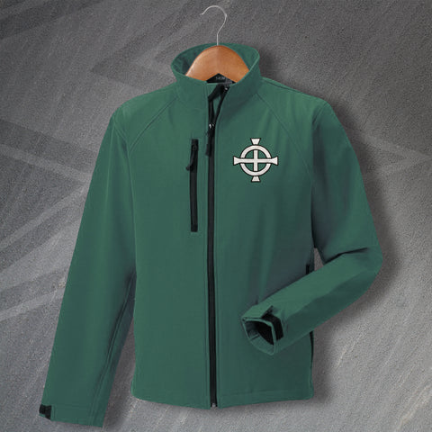 Northern Ireland Football Jacket Embroidered Softshell 1977