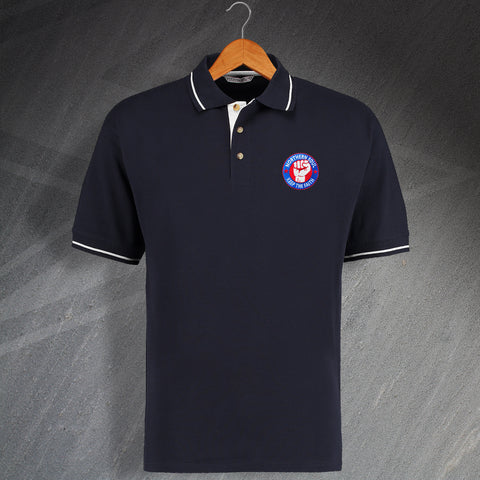 Northern Soul Polo Shirt Embroidered Contrast Choice of Badges