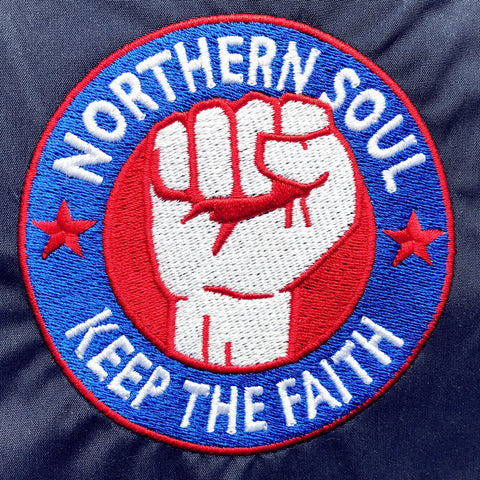 Northern Soul Embroidered Badge